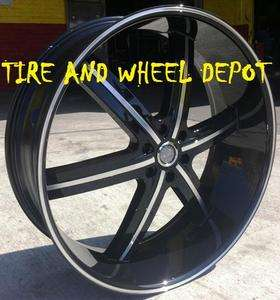 26 INCH WHEELS U2 55 BLACK RIMS TIRES SILVERADO 2WD 4WD