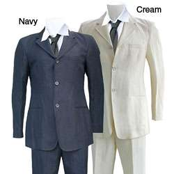 Armani Mens Three button Hemp Suit
