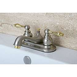 Satin Nickel and Polished Brass Bathroom Faucet