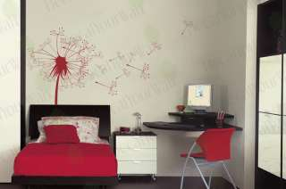 Flower Dandelion Wall Decal Art Decor Vinyl Sticker 36