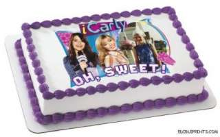 iCarly   Oh Sweet Photo Edible Image Icing Cake Topper