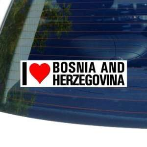 I Love Heart BOSNIA AND HERZEGOVINA   Window Bumper