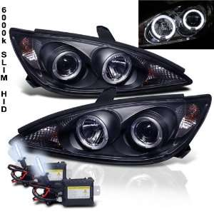 Eautolight 6000k Slim Xenon HID Kit+02 04 Toyota Camry Halo Projector