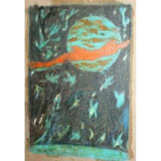 European Art, Vintage Abstract Expressionist Oil Painting