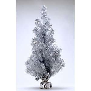 2 ft. Silver Tinsel Christmas Tree Arts, Crafts & Sewing