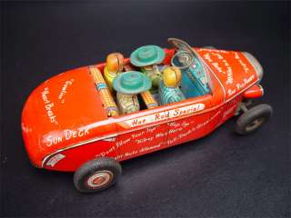 Vintage Marx Linemar Hot Rod Special Battery Tin Toy