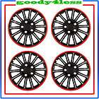 set of 4 15 cobra chrome black wheel covers hubcaps