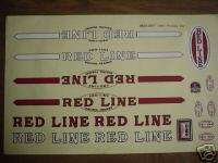 OLD SCHOOL BMX 1980 REDLINE PRO LINE decal sticker Set