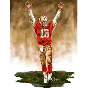 Large Joe Montana San Francisco 49ers Giclee