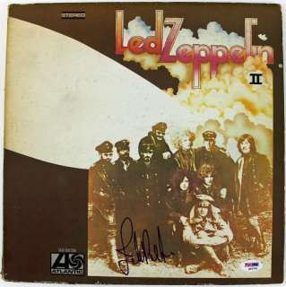 JONES LED ZEPPELIN SIGNED ALBUM COVER W/ VINYL PSA/DNA #Q45792