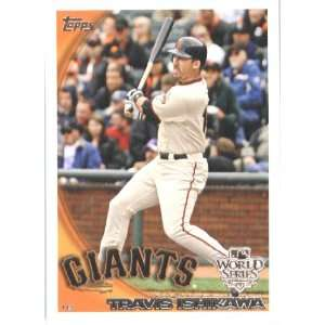 2010 Topps Mike Fontenot San Francisco Giants World Series
