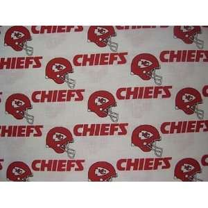 60 Wide Kansas City Chiefs NFL Polar Fleece Fabric By the