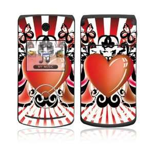 LG Chocolate 3 (VX8560) Skin Decal Sticker   Heart Wings