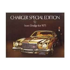 1975 DODGE CHARGER Sales Brochure Literature Book