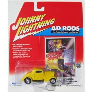 Johnny Lightning Ad Rods 1934 Ford Coupe YELLOW Toys & Games