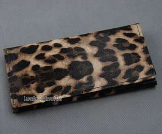 Brown Leopard Print Lady Wallet Purse Coin Bag I560