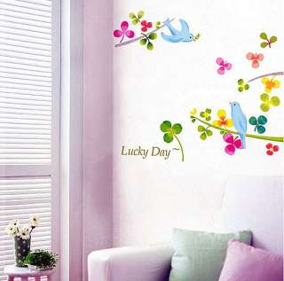 Birds Tree Wall Stickers Home Decor Vinyl decals Mural