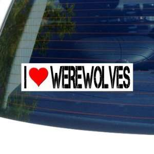 I Love Heart WEREWOLVES Window Bumper Sticker Automotive