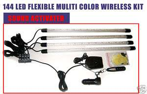 Custom Car Interior Wireless Flexible 7 Color LED Kit