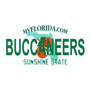 State Background License Plates   Buccaneers