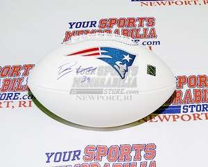 Woodhead New England Patriots signed Patriots logo white football