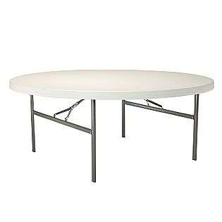 Round Folding Table  Lifetime Outdoor Living Patio Furniture Tables