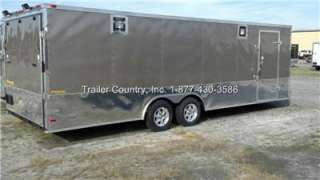 5X24 ENCLOSED CARGO CAR HAULER TRAILER   STAGE 2 RACE PACKAGE