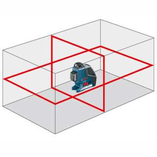Bosch self levelling Cross Line Laser level + Reciever