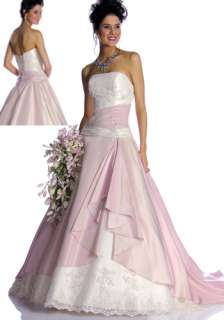 Hot Sale Pink Strapless Bride Gown Wedding Dress