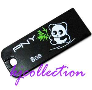 PNY 8G 8GB USB Flash Memory Drives Stick Strap PANDA