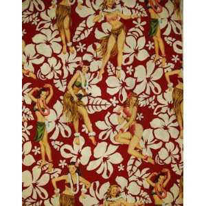Fabric   Aloha by Alexander Henry on Red Pareo Arts, Crafts & Sewing