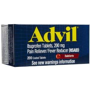 Advil Pain Reliever/Fever Reducer, 200 mg, Coated Tablets