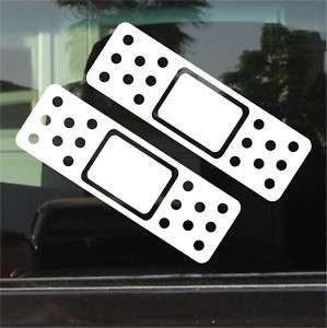 CAR BANDAID / BAND AID VINYL DECAL / STICKER PAIR