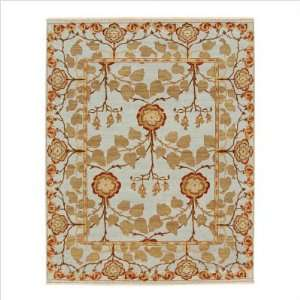 Opus Tree of Life Sky Blue Contemporary Rug Size 10 x 14
