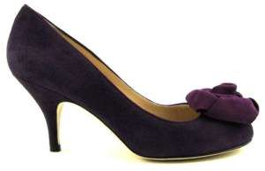 330 KATE SPADE BLOOM Eggplant Womens Shoes Pump 6 M