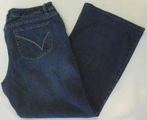 Womens Plus Venezia Jeans 1 Petite Stretch Flare Red Triangle
