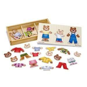 Melissa & Doug Wooden Bear Family Dress Up Puzzle