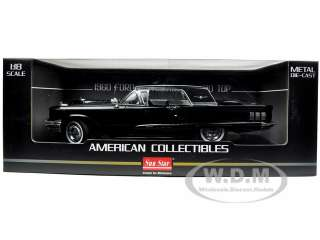 1960 FORD THUNDERBIRD HARD TOP RAVEN BLACK 118 DIECAST MODEL CAR BY