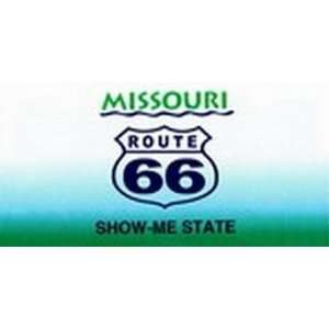 Missouri State Background License Plates   Route 66 Plate