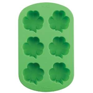Lets Party By Wilton Mini Shamrock Shaped Silicone Cake