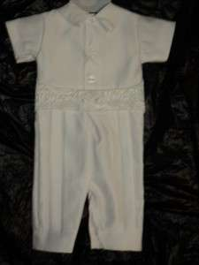 Baby Boy White Christening Baptism Suit/L /12 18 MONTHS