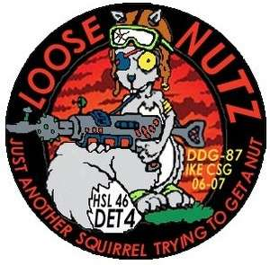 Patch Navy Helicopter Squad Det 4 Loose Nutz assigned DDG 87 USS Mason