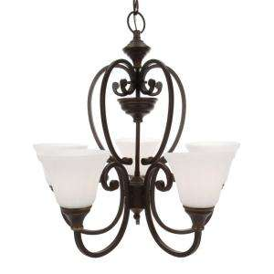 Hampton Bay Somerset Collection Bronze 5 Light Chandelier GEX8115A 2