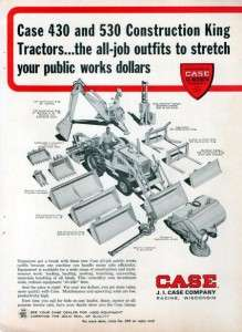 1965 Case 530 Construction King Tractor Original Ad