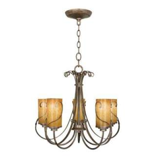 Hampton Bay Artisan 5 Light Bronze Chandelier 17175