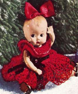 Crochet PATTERN 8 Baby Doll Christmas Dress Clothes