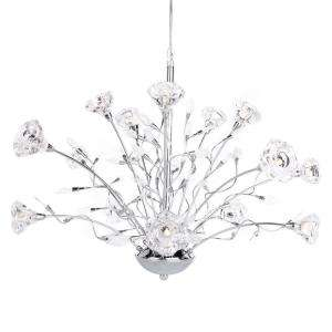 Hampton Bay Rosetta 15 Light Hanging Chrome Chandelier HD132406 at The