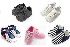 Baby Boy Girl Shoes, Trainers (Black formal, White Leather, Sailor