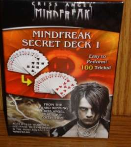 Secret Deck 1 Criss Angel MindFreak easy to preform 100 magic Tricks