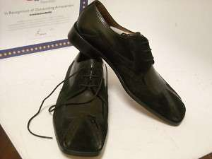 Fratelli Suede Wing Shoe Black Mens Size 11.5 M NIB